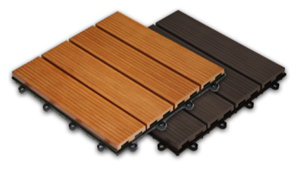 platic deck design woodlook with easy clip system